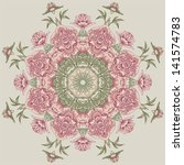circle floral pattern with...   Shutterstock .eps vector #141574783