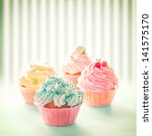Delicious Colourful Cupcakes I...