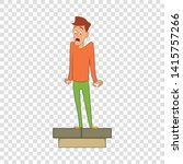 fear of heights icon. cartoon...   Shutterstock .eps vector #1415757266