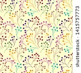 seamless pattern with abstract... | Shutterstock .eps vector #1415757773