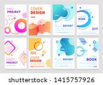 set of abstract modern graphic... | Shutterstock .eps vector #1415757926