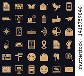 postal code icons set. simple... | Shutterstock .eps vector #1415759846