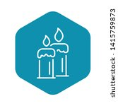 burning candles icon. outline...   Shutterstock .eps vector #1415759873