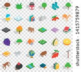 fauna icons set. isometric... | Shutterstock .eps vector #1415759879