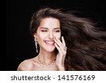 portrait of a beautiful... | Shutterstock . vector #141576169