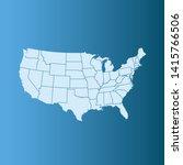 illustration vector map of usa | Shutterstock .eps vector #1415766506