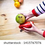 photographs of tropical fruits ... | Shutterstock . vector #1415767076