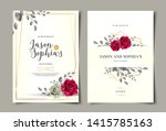set of wedding invitation... | Shutterstock .eps vector #1415785163