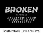 broken font design  alphabet... | Shutterstock .eps vector #1415788196