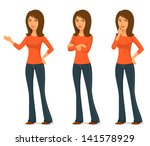 cartoon illustration of a young ... | Shutterstock .eps vector #141578929