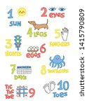 numbers and counting practice... | Shutterstock .eps vector #1415790809