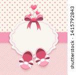 baby girl album. scrapbook... | Shutterstock .eps vector #1415792843
