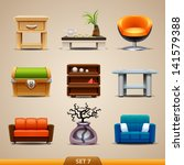 furniture icons set 7 | Shutterstock .eps vector #141579388