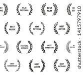 black and white film award...   Shutterstock .eps vector #1415797910
