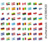 collection of flags. vector... | Shutterstock .eps vector #141580420