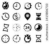 time icon illustration  set of... | Shutterstock .eps vector #1415806733