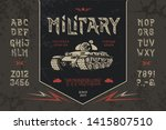 font military. hand crafted... | Shutterstock .eps vector #1415807510