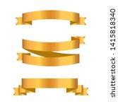 gold ribbon collection. golden...   Shutterstock .eps vector #1415818340