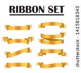gold ribbon collection. golden...   Shutterstock .eps vector #1415818343