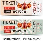 retro circus ticket. vintage... | Shutterstock . vector #1415826026