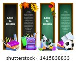 back to school banners with... | Shutterstock .eps vector #1415838833