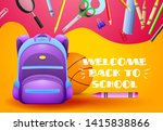 welcome back to school posters... | Shutterstock .eps vector #1415838866