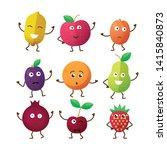 vector funny fruit character...   Shutterstock .eps vector #1415840873