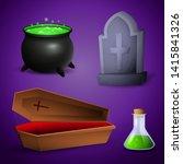 halloween celebration...   Shutterstock .eps vector #1415841326