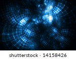 Cloud Computing - Fractal Illustration - stock photo
