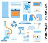 set of home electronics... | Shutterstock .eps vector #1415857526