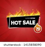 hot sale price offer deal... | Shutterstock .eps vector #1415858090