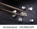 small diamond in tweezers ... | Shutterstock . vector #1415862209