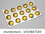 packing bright yellow pills to... | Shutterstock . vector #1415867183