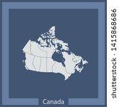 illustration vector map of... | Shutterstock .eps vector #1415868686