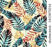bright seamless pattern with... | Shutterstock .eps vector #1415870216