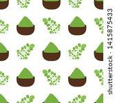 moringa oleifera leaves and...   Shutterstock .eps vector #1415875433