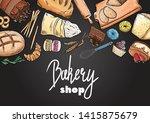 bread hand drawn set... | Shutterstock .eps vector #1415875679
