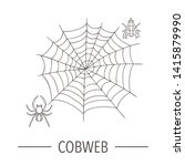 vector line drawing of spider... | Shutterstock .eps vector #1415879990