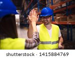 friendship on job. good...   Shutterstock . vector #1415884769
