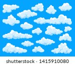 white clouds set. abstract ... | Shutterstock .eps vector #1415910080