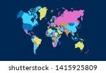 color world map vector modern | Shutterstock .eps vector #1415925809