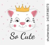 happy cartoon cat princessa and ...   Shutterstock .eps vector #1415938073