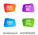 geometric banners. save 75  off.... | Shutterstock .eps vector #1415942630