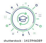 continuing education line icon. ... | Shutterstock .eps vector #1415946089