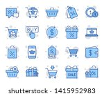 shopping wallet line icons.... | Shutterstock .eps vector #1415952983