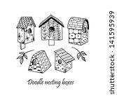 doodle nesting boxes. | Shutterstock .eps vector #141595939