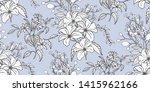 flower print elegance seamless... | Shutterstock .eps vector #1415962166