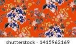 flower print elegance seamless... | Shutterstock .eps vector #1415962169