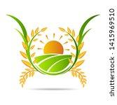 farm icon concept logo full... | Shutterstock .eps vector #1415969510