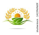 farm icon concept logo full... | Shutterstock .eps vector #1415969609
